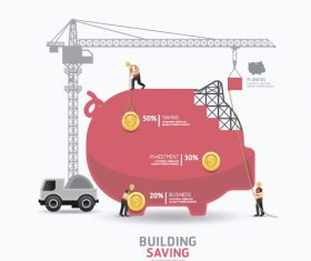 construction infographic template vector 05