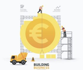 construction infographic template vector 07