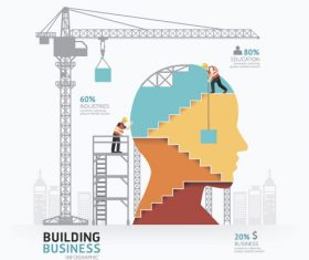 construction infographic template vector 08