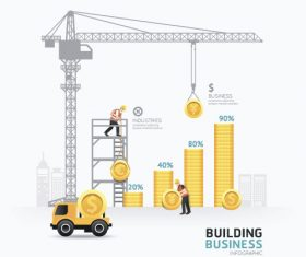 construction infographic template vector 09