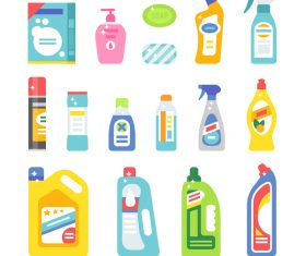detergent design vector set