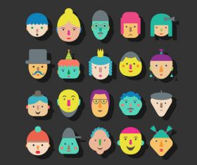 faces icon vector design 02
