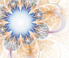 fractal flowers texture Stock Photo 01