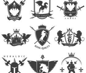 heraldry symbols design vector 02