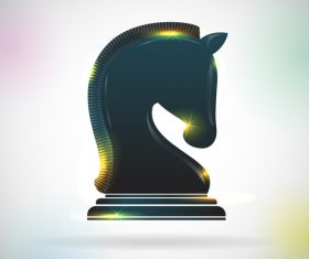 horse chess vector material 01