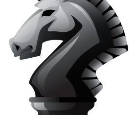 horse chess vector material 02