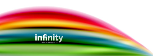 infinity colored design background vector 01