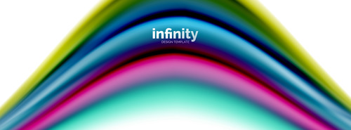 infinity colored design background vector 02