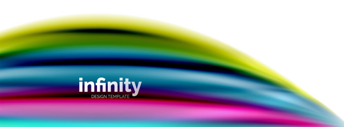 infinity colored design background vector 03
