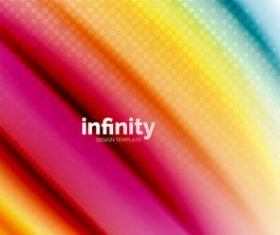 infinity colored design background vector 06