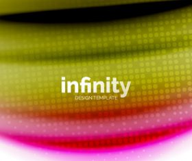 infinity colored design background vector 07
