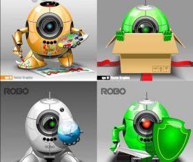 intelligent robots design vector
