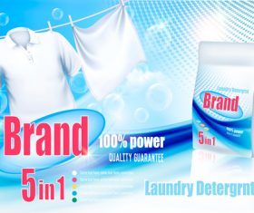 laundry detergent ad poster template vector 01