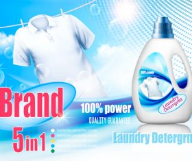 laundry detergent ad poster template vector 02