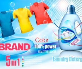 laundry detergent ad poster template vector 04