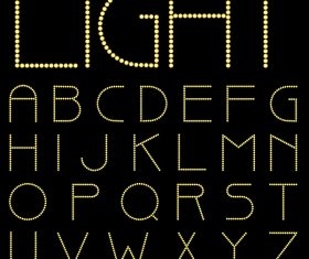 light alphabet vector design