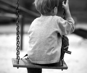 lonely children Stock Photo
