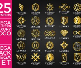 Collection Luxury Gold Logo – 25 elements vector