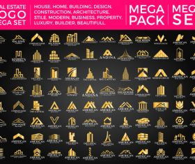 Real Estate Group Luxury Gold Logo vector