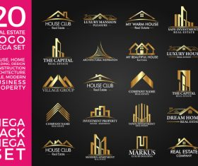 20 Real Estate Gold Logo vector