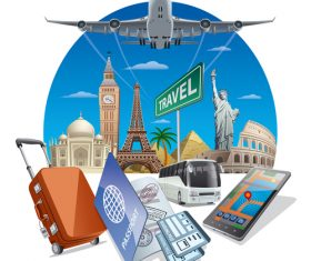 tourism concept travel vector