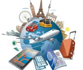 world tourism travel vector