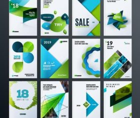 2018 with 2019 brochure cover vector template