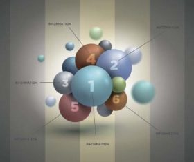 3D sphere business infographic vector 01