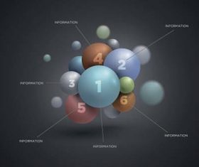 3D sphere business infographic vector 02