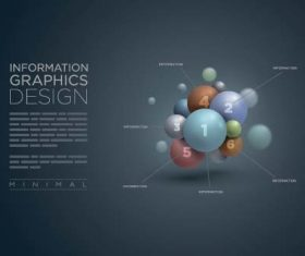 3D sphere business infographic vector 03