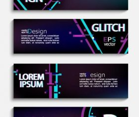 4 Kind banners template design vector