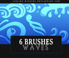 6 Kind waves Photoshop Brushes