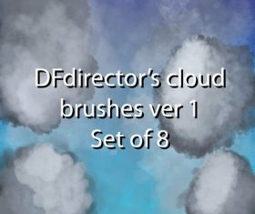8 Clouds Photoshop Brushes