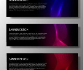 Abstract modern banners template design vector