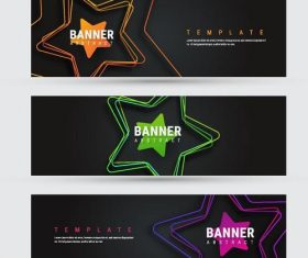 Abstract star banners template design vector