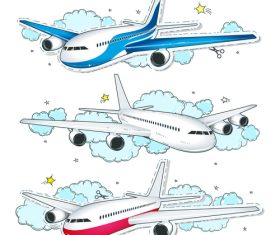 Aircraft cartoon illustration vector
