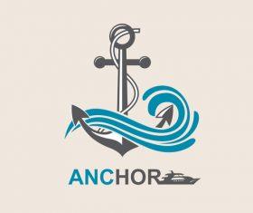 Anchor logo design vector 01