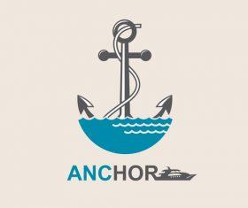 Anchor logo design vector 02