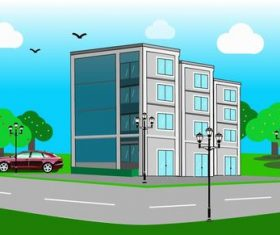 Apartment landscape illustration vector