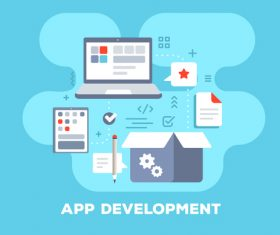 App development business flat template vector