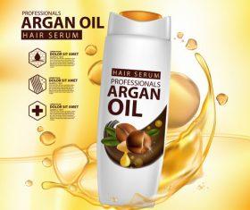 Argan oil hair serum advertisement poster vector 05