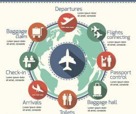 Ariport infographic template vector