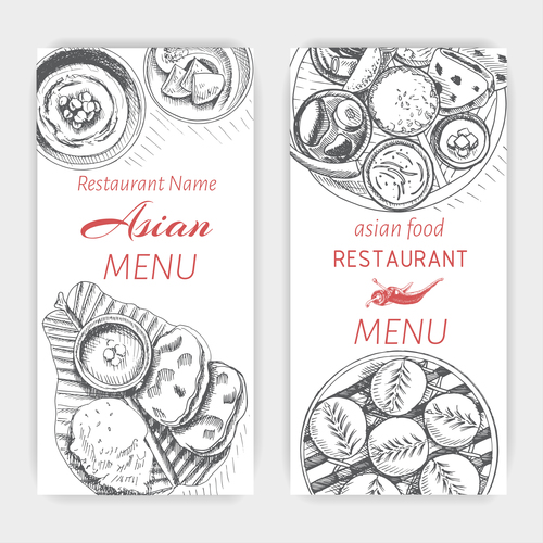 Consider, that Asian menu cards can look