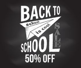 Back to school sale sign design vector 01