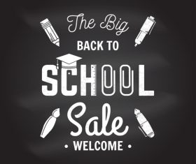 Back to school sale sign design vector 02
