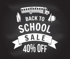 Back to school sale sign design vector 03