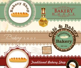 Bakery banners creative design vector
