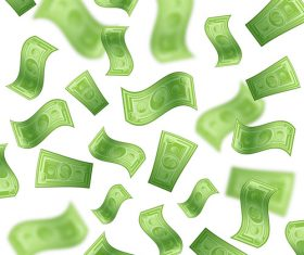 Banknotes green vector background design 01