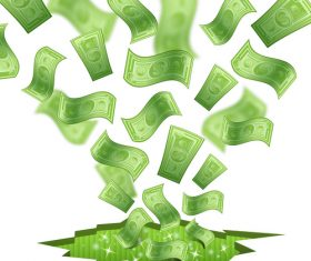 Banknotes green vector background design 02