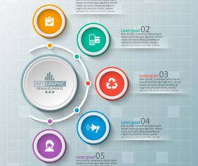 Banner option infographic creative template vector 01